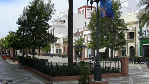 La Plaza de las Flores, una de las principales de la localidad isleña
