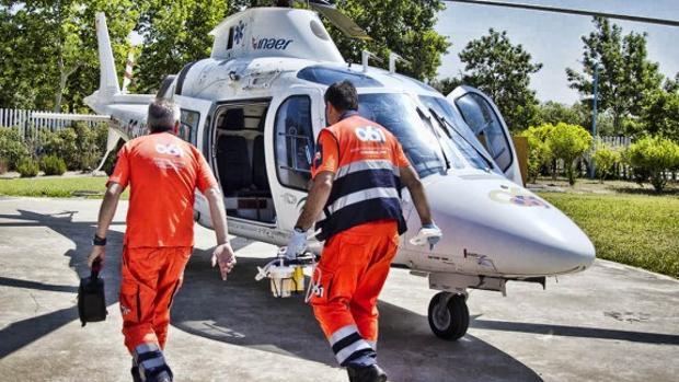 Helicóptero empleado por el 061