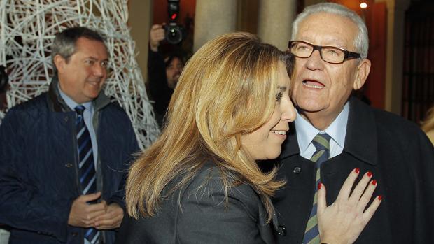 Susana Díaz y Rafael Escuerdo en un acto celebrado en diciembre en Sevilla