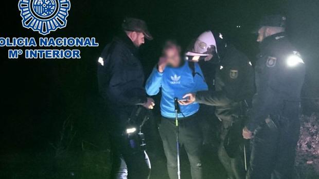Imagen difundida por la Policía Nacional de Córdoba con la localización del hombre extraviado en la Sierra