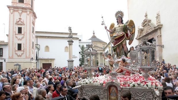 San Rafael en su última procesión