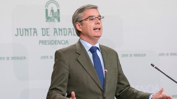 El portavoz del ejecutivo andaluz, Juan Carlos Blanco