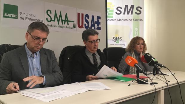 Fransico Muñoz, Rafael Carrasco y Araceli Marín