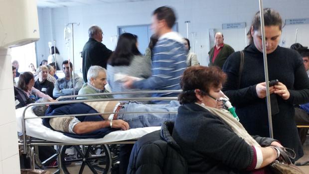Sala de espera de unas urgencias en Sevilla