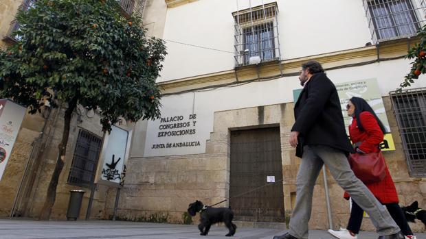 Fachada del Palacio de Congresos y Exposiciones en la calle Torrijos de Córdoba