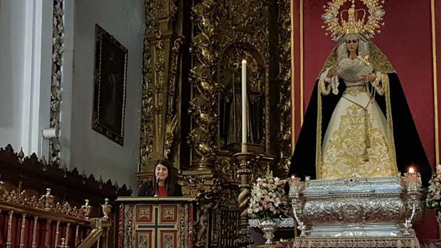 Estefanía Molina, en un momento de su exaltación