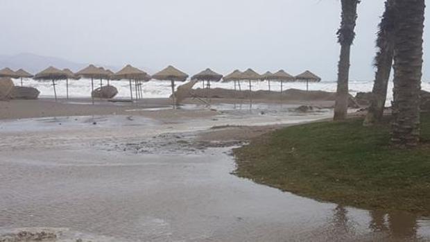 Imagen de archivo del temporal en Málaga