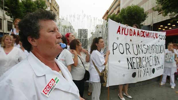 Protesta de empleadas de la ayuda a domicilio