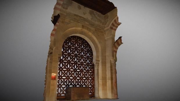 Plano en 3D de la segunda puerta de la Mezquita-Catedral de Córdoba