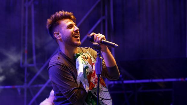 Antonio José durante un concierto en Córdoba