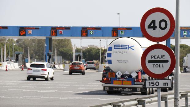 El peaje entre Sevilla y Cádiz