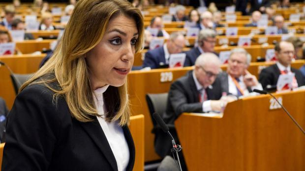La presidenta de la Junta de Andalucía, Susana Díaz, en Bruselas, esta semana