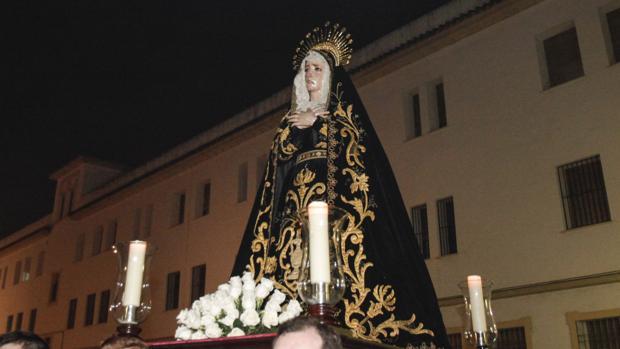 La Virgen de la Soledad, en un Vía Crucis
