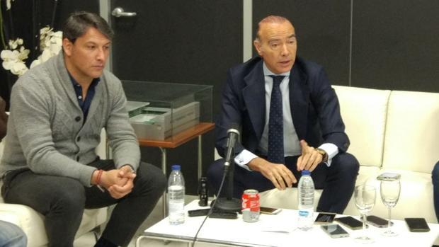 Luis Oliver y Dani López Ramos, con los medios este lunes