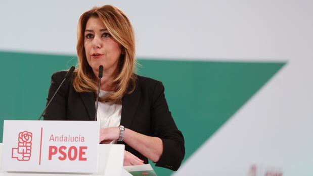Susana Díaz durante el último comité director del PSOE andaluz