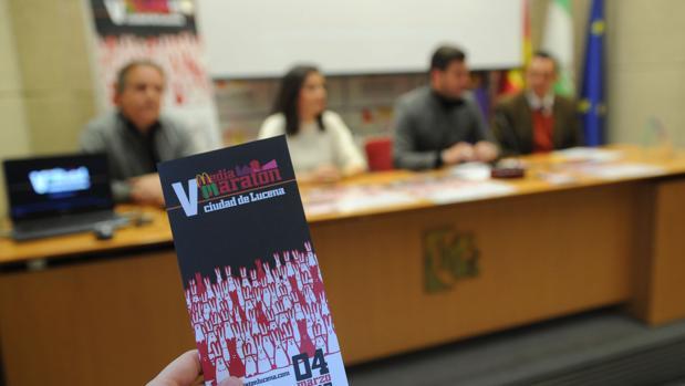 Acto de presentación este miércoles de la Media Maratón de Lucena