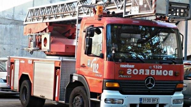 Un camión de bomberos en una imagen de archivo