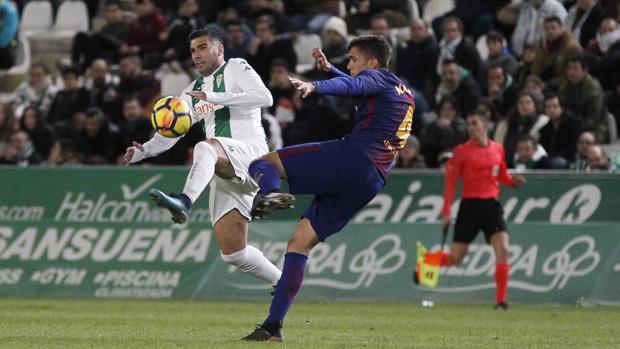 José Antonio Reyes, el domingo en su debut con la camiseta del Córdoba CF