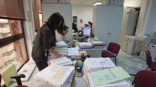 Funcionarios con expedientes de concursos de acreedores