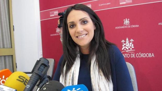 Carmen González en una rueda de prensa