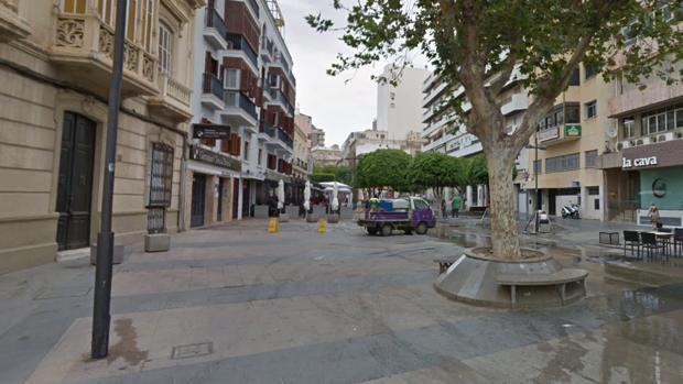 Alrededores de la plaza del Marqués de Heredia, donde sucedieron los hechos que se denuncian