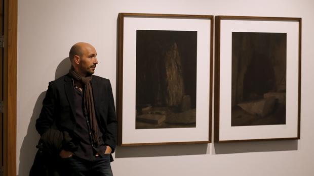 José Guerrero, con la obra premiada en 2017
