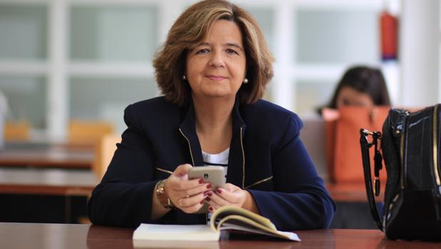 Pilar Rangel, en la Facultad de Derecho de la Universidad de Málaga