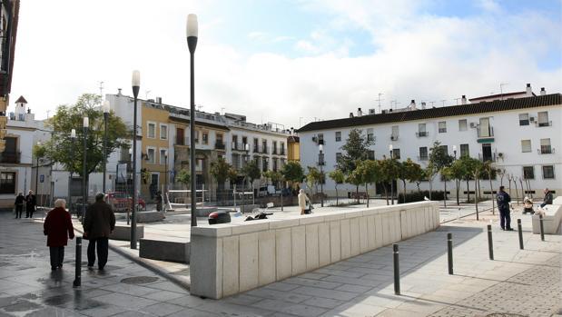 Plaza del Poeta Juan Bernier, donde antes se ubicó el convento de Santa María de Gracia