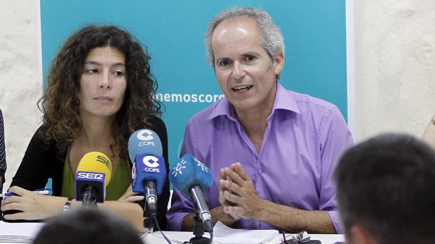 Vicky López y Rafael Blázquez, en una rueda de prensa