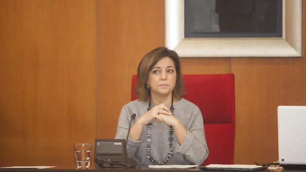 La alcaldesa, en un Pleno municipal