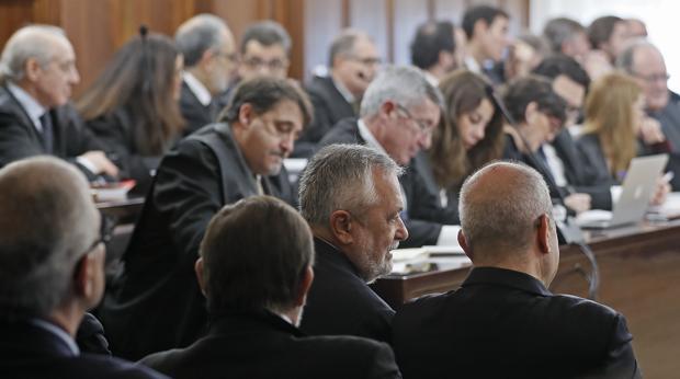 Imagen de la sala donde se juzgan a los acusados de los ERE en Sevilla