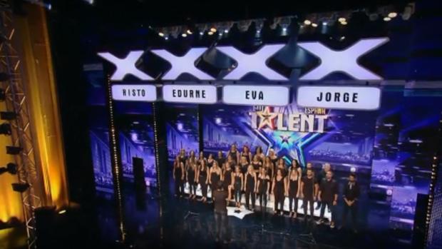 Un momento de la actuación del Coro Gospel Córdoba en Got Talent