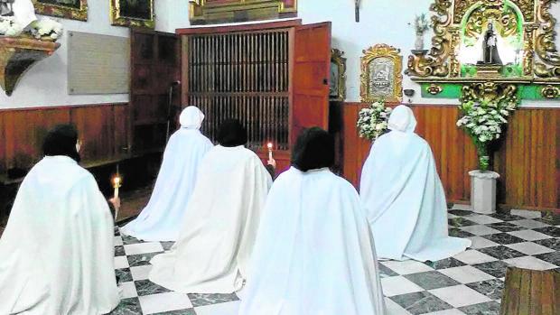 Las mopnjas de clausura en el convento aguilarense