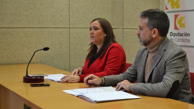 Los portavoces de PSOE e IU en una rueda de prensa