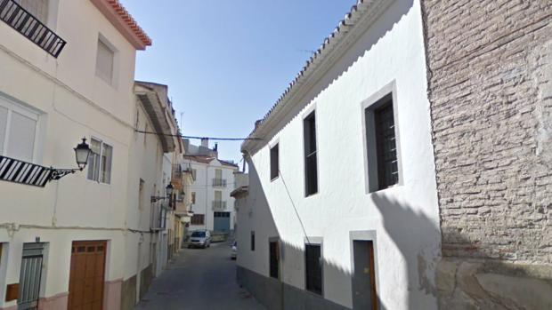 Calle cercana a la vivienda de la víctima