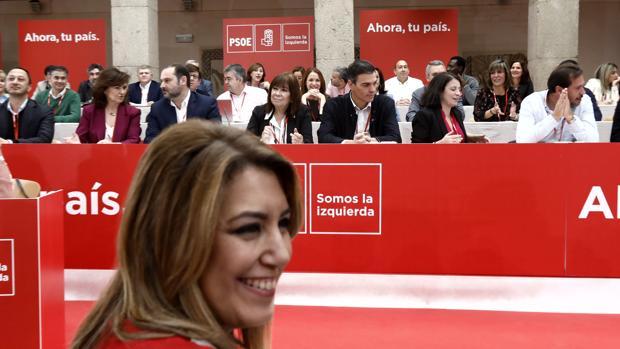 Susana Díaz en el último Comité Federal que se celebró en noviembre de 2017
