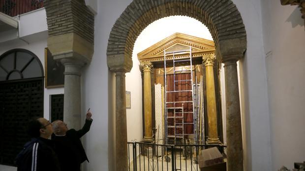 Capilla de la Virgen del Rayo, durante la intervención
