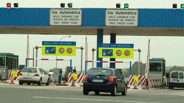 Peaje en Las Cabezas en la autopista en la AP-4
