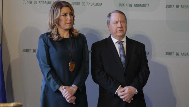 Susana Díaz con Juan Cano, presidente del Consejo Cultivo andaluz