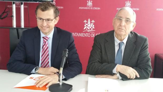 Los concejales de Ciudadanos en Córdoba David Dorado y José Luis Vilches