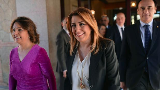 Susana Díaz junto a la alcaldesa de Córdoba, Isabel Ambrosio