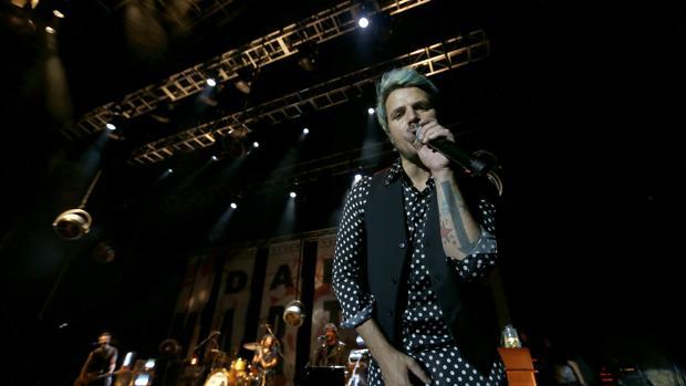 Dani Martín durante un concierto en la Axerquía