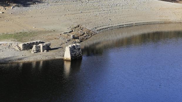 Aspecto del pantano del Guadalmellato el pasado diciembre