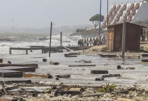 Imágenes del temporal en Huelva