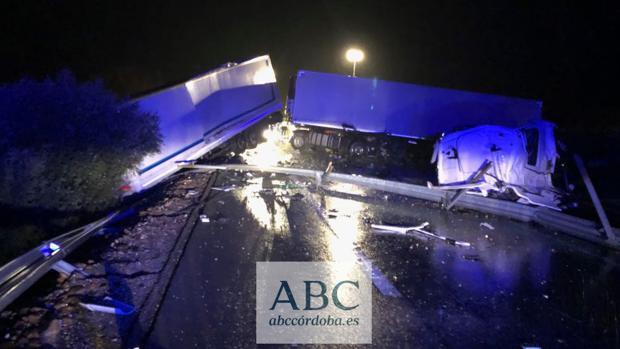 Los camiones accidentados