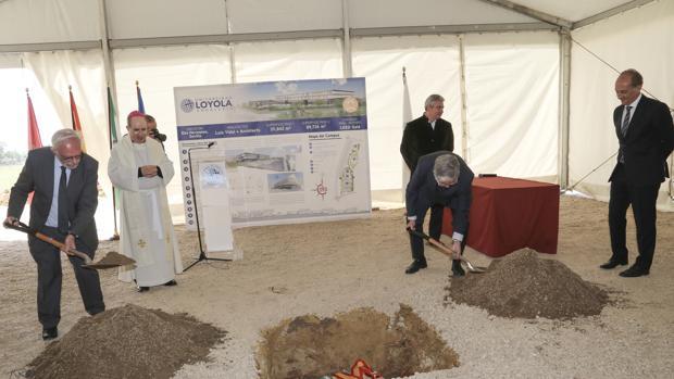 Colocación de la primera piedra del Campus universitario Loyola Andalucía en Dos Hermanas