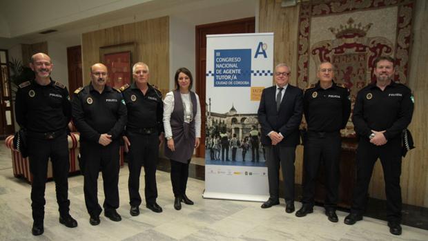 La alcaldesa, en la presentación de un congreso policial
