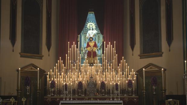 Altar de cultos del Señor del Prendimiento de Córdoba en el quinario de 2018