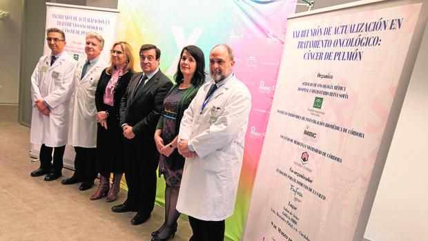 Presentación ayer en el Imibic de las jornadas sobre cáncer de pulmón