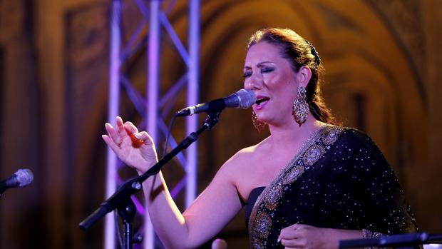 La cantaora Marina Heredia en una de sus actuaciones en Córdoba